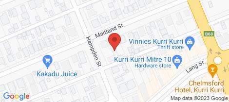 Location map for 154-156 Maitland Street Kurri Kurri