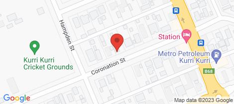 Location map for 37 Coronation Street Kurri Kurri