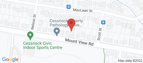 Location map for 72 Mount View Road Cessnock