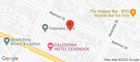 Location map for 87 Rawson Street Aberdare