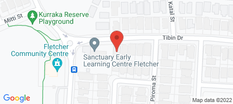 Location map for 33 Tibin Drive Fletcher