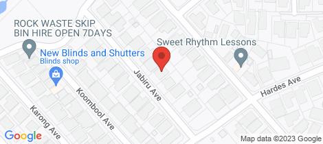 Location map for 16 Jabiru Street Maryland