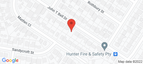 Location map for 22 John T Bell Drive Maryland