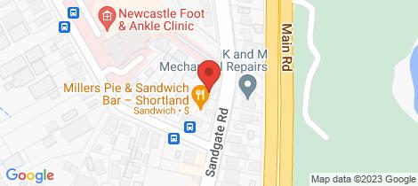 Location map for 338 Sandgate Road Shortland