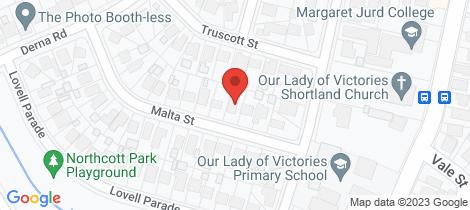 Location map for 8 Malta Street Shortland