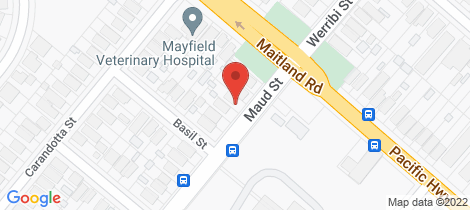 Location map for 5 Maud St Mayfield West
