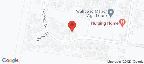 Location map for 37 Benjamin Drive Wallsend