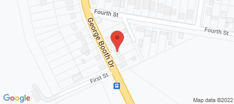 Location map for 5 George Booth Drive Seahampton