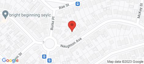 Location map for 96 Naughton Avenue Birmingham Gardens