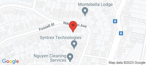 Location map for 39 Naughton Avenue Birmingham Gardens