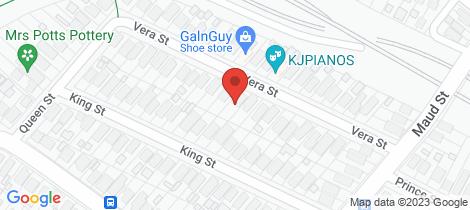 Location map for 20 Vera Street Waratah West