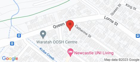Location map for 37 Catherine Street Waratah West