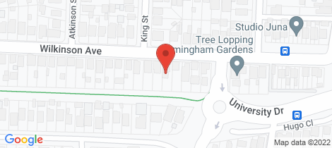Location map for 35 Wilkinson Avenue Birmingham Gardens