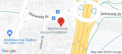 Location map for 15 Hugo Close Jesmond