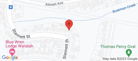 Location map for 12 Stannett Street Waratah West