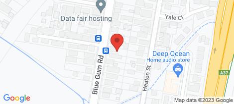 Location map for 79 Blue Gum Road Jesmond