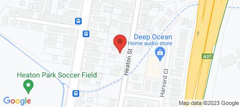 Location map for 28 Heaton Street Jesmond