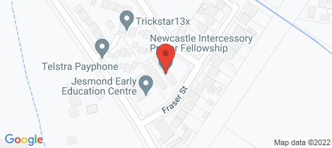Location map for 10/36 Fraser Street Jesmond
