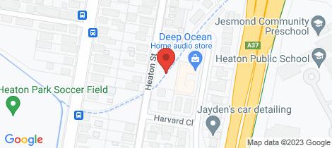 Location map for 25 Heaton Street Jesmond