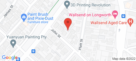 Location map for 3/4 John Street Wallsend