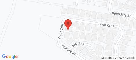 Location map for 29 Fryar Crescent Wallsend