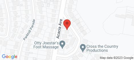 Location map for 43 Acacia Avenue Waratah West