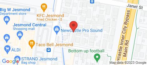 Location map for 4/64 William Street Jesmond