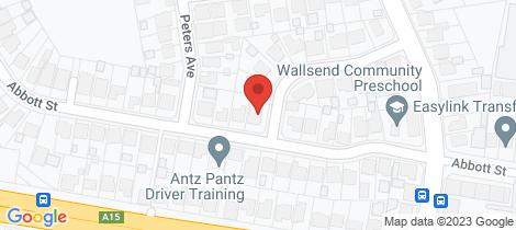 Location map for 52 Abbott Street Wallsend