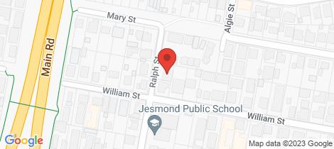 Location map for 24 Ralph Street Jesmond