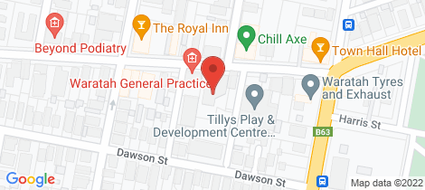 Location map for 6/50 Station Street Waratah