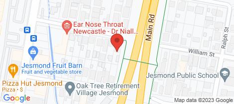 Location map for 51 William Street Jesmond