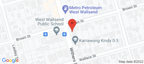 Location map for 7A Withers Street West Wallsend