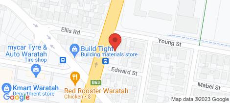 Location map for 78 Turton Road Waratah