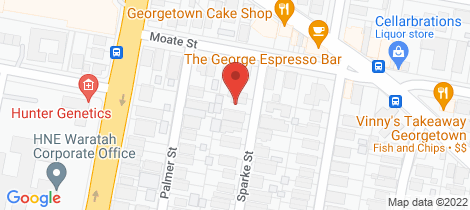 Location map for 1 Sparke Street Georgetown