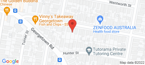 Location map for 43 Moate Street Georgetown