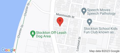 Location map for 102 Fullerton Street Stockton