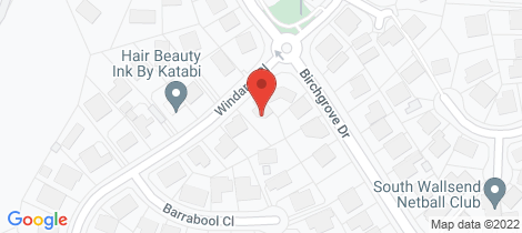 Location map for 3 Windarra Close Wallsend
