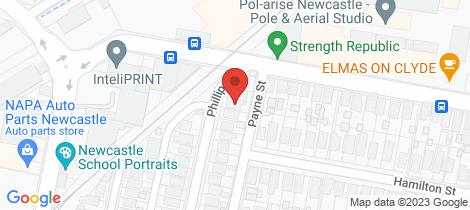 Location map for 5 Phillips Street Hamilton North
