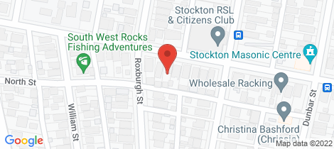 Location map for 43 Clyde Street Stockton