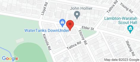 Location map for 29 Elder Street Lambton