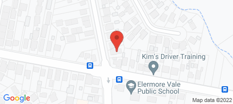 Location map for 35a Jubilee Road Elermore Vale