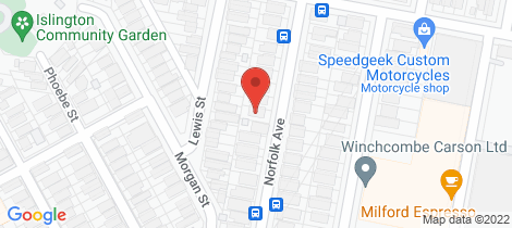 Location map for 32 Norfolk Avenue Islington
