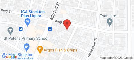 Location map for 15 King Street Stockton