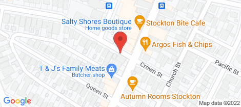 Location map for 1/41 Mitchell Street Stockton