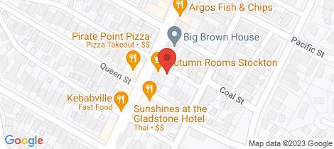 Location map for 1/42 Mitchell Street Stockton