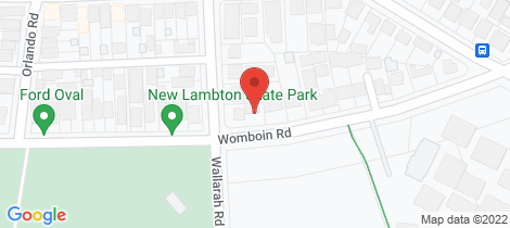 Location map for 104a Womboin Road Lambton