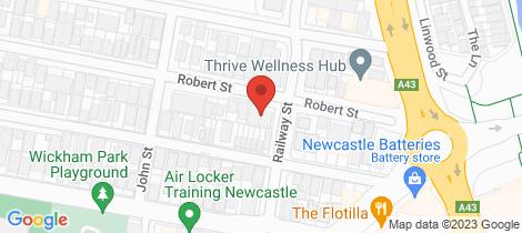 Location map for 22A Robert Street Wickham