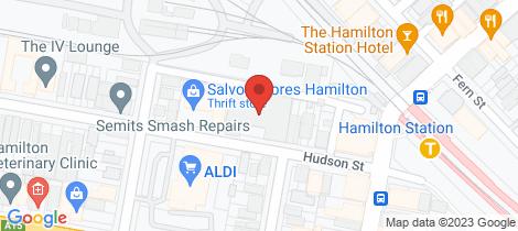 Location map for Lot 1/12-24 Hudson Street Hamilton