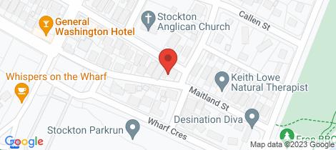 Location map for 21 Maitland Street Stockton