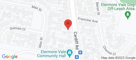 Location map for Villa 2/108 Cardiff Road Elermore Vale
